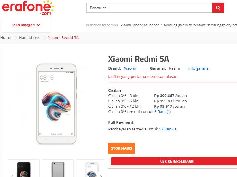 Strategi Marketing Dibalik Harga Murah Xiaomi Redmi 5a Yang Php