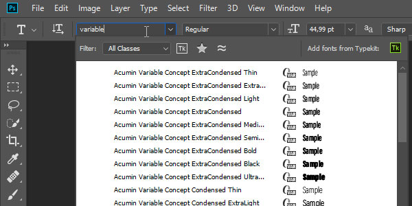 Variable Fonts in Photoshop and Illustrator CC 2018 | DesignEasy