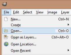GIMP open photo
