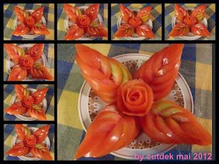 Gharnis Cantik Bentuk Bunga