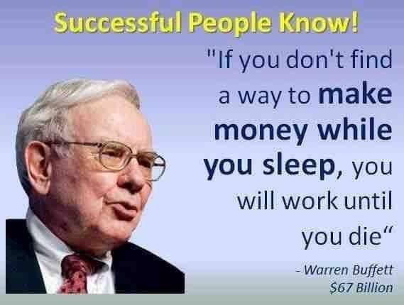 Image result for warren buffett make money while you sleep