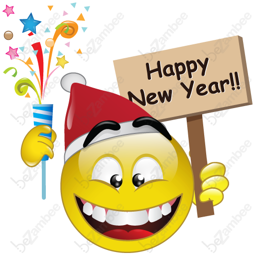 happy new year smiley face clip art - photo #4