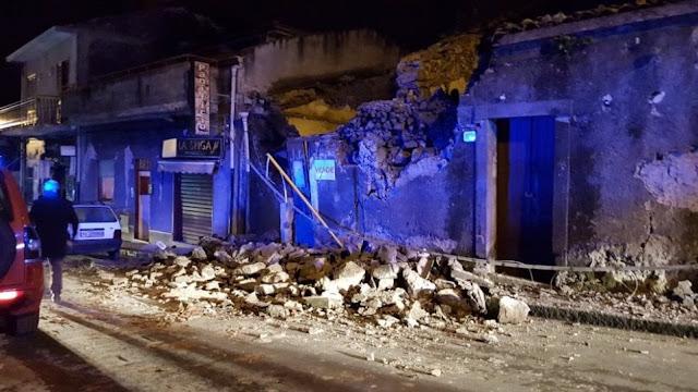 Σεισμός 4,8 Ρίχτερ στην Ιταλία - Κατέρρευσαν σπίτια