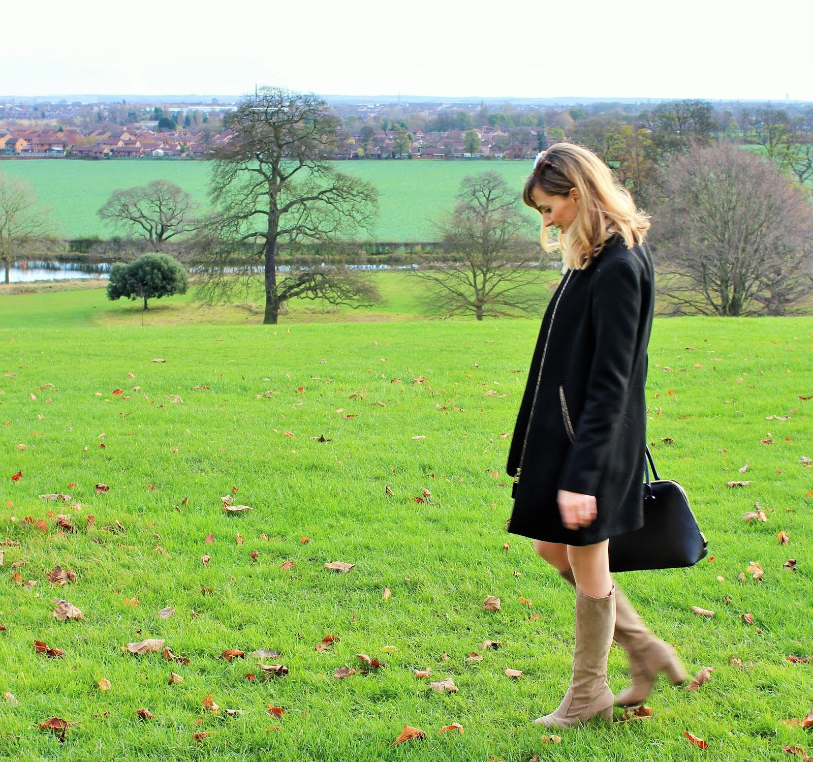 OOTD featuring Topshop, Zara and Online Avenue - Sixties Style with Cream Knee High Boots