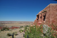Adobe building overlooking Painted Desert