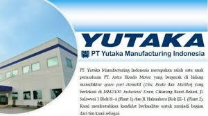 Daftar Kerja Pabrik Kawasan MM2100 PT Yutaka Manufacturing Indonesia (YMI)