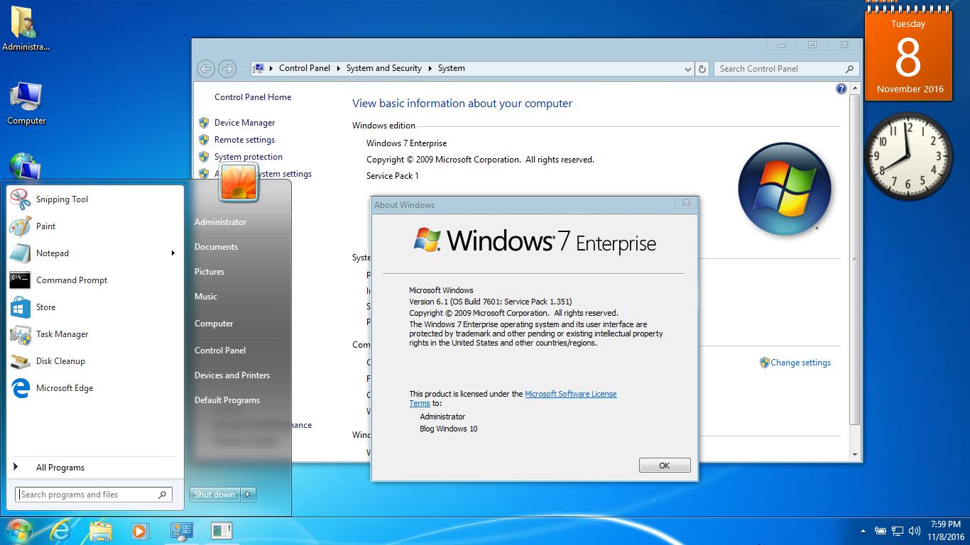Hướng dẫn độ lại giao diện Windows 10 trông giống với Windows 7 nhất