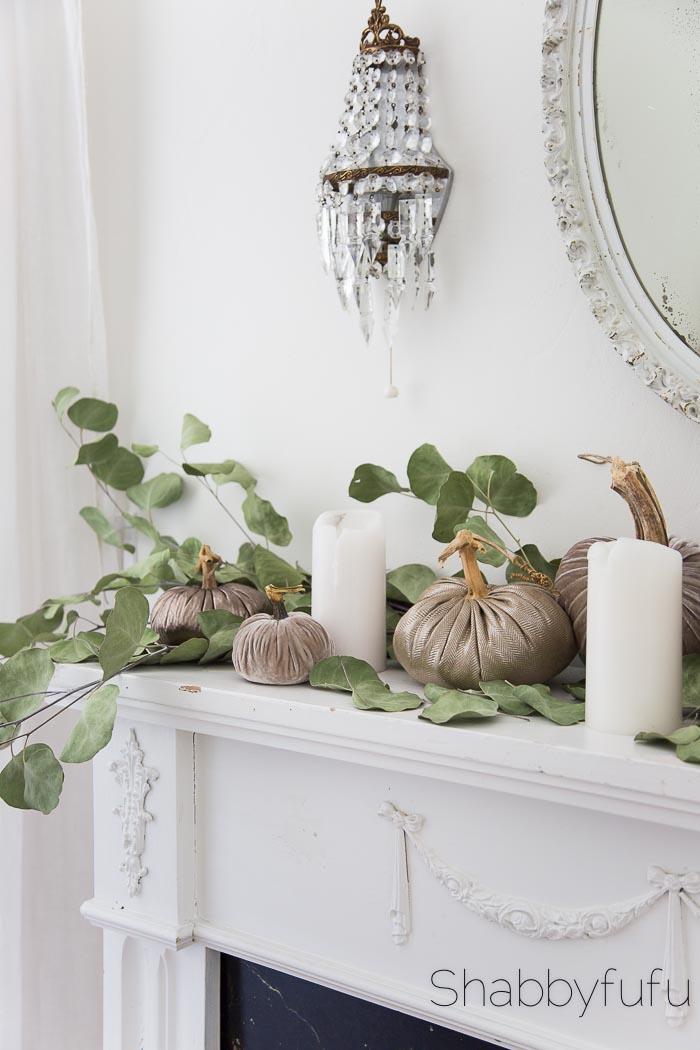 metallic and velvet pumpkins