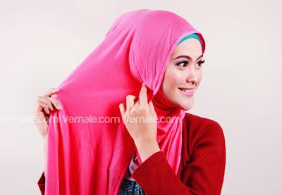 tutorial Cara Memakai Jilbab Pashmina