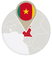 Cameroonian flag and map