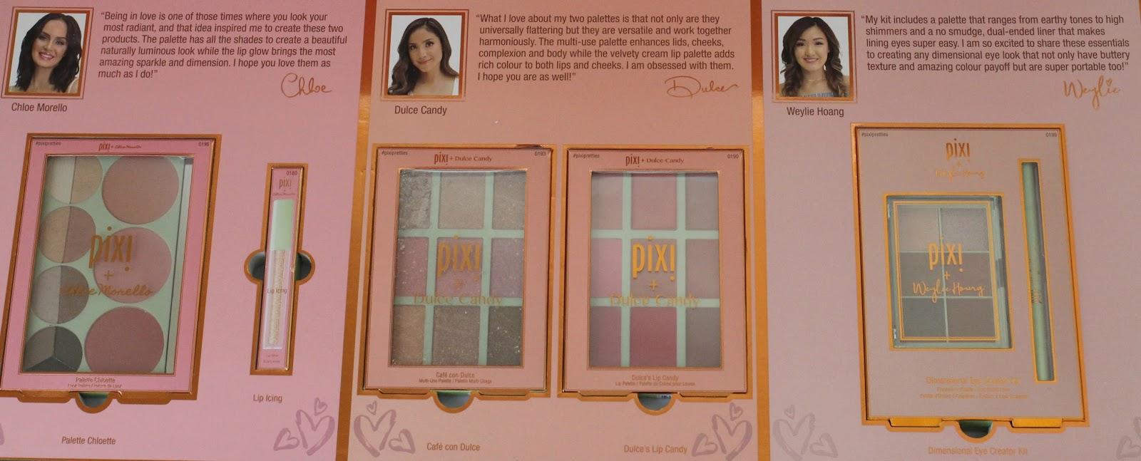 Pixi Beauty 2018 Pixi Pretties Collection: Chloe Morello, Dulce
