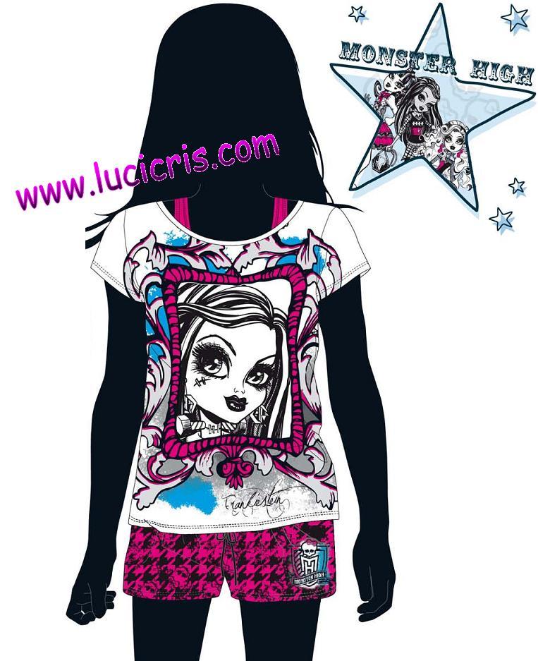 lucicris tienda online nuevo pijama monster high franki y draculaura. Black Bedroom Furniture Sets. Home Design Ideas