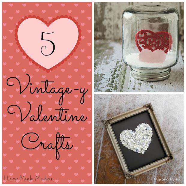 vintage valentine crafts