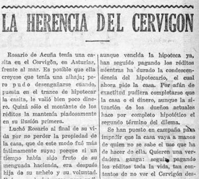 Fragmento del artículo publicado en La Voz, 31-10-1927
