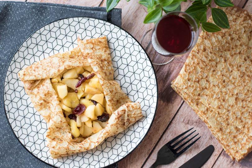recette Crêpes aux fruits