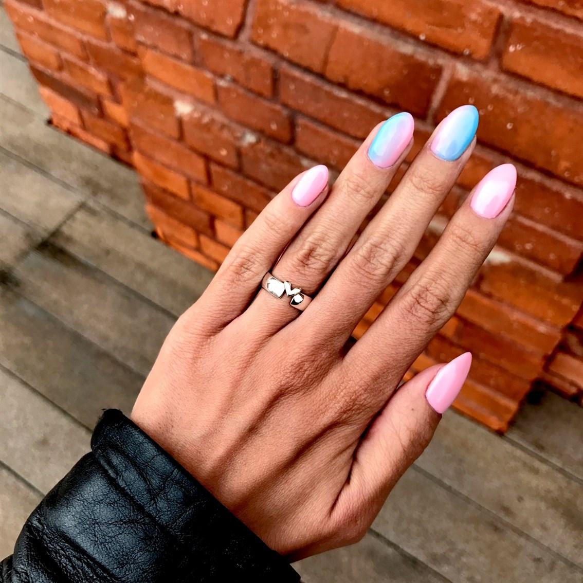 manicure hybrydowy ombre, paznokcie ombre
