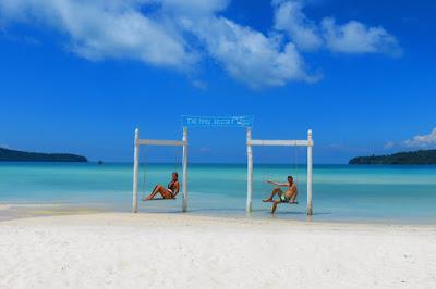 Plage de Koh rong au Cambodge, l'une des plus belles plages d'Asie .