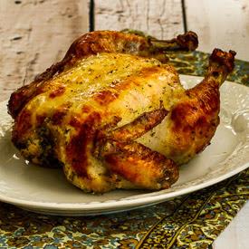 Marinate-All-Day Greek Lemon Chicken Recipe found on KalynsKitchen.com