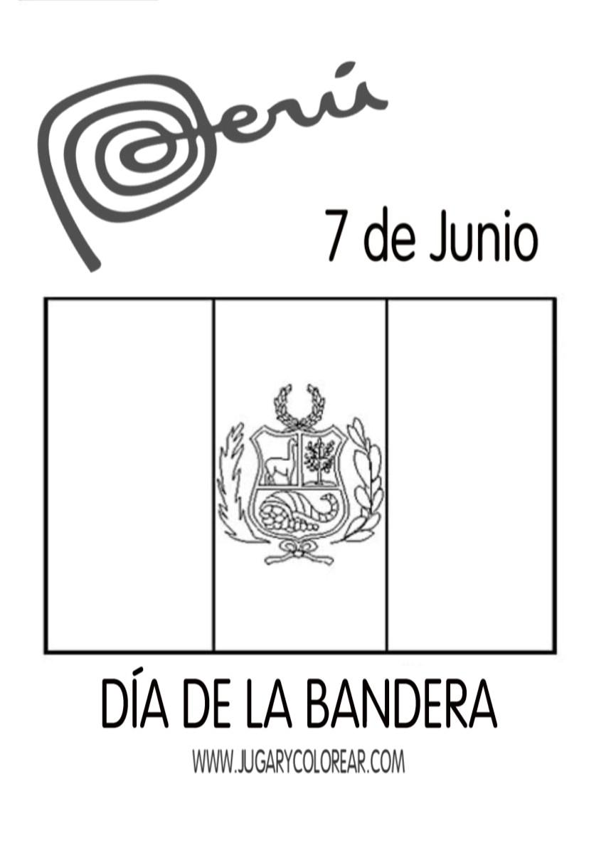 Dibujos Día De La Bandera Peru 7 De Junio