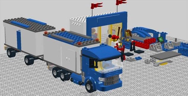 gambar truk gandeng dari lego