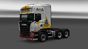 Ainscough Crane Hire skin for Scania RJL