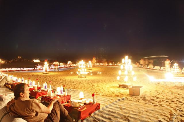 Sun downer cocktails, Sand Dunes in Bikaner