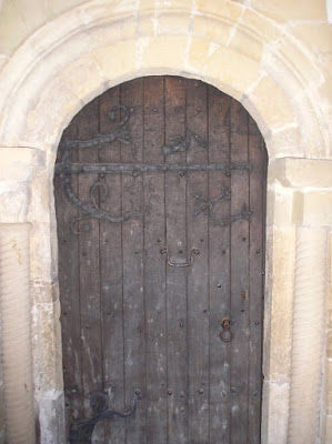 South door with 12thc. ironwork, St Mary the Virgin, Ebberston