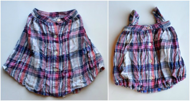 Upcycle: Shirt to Baby Romper
