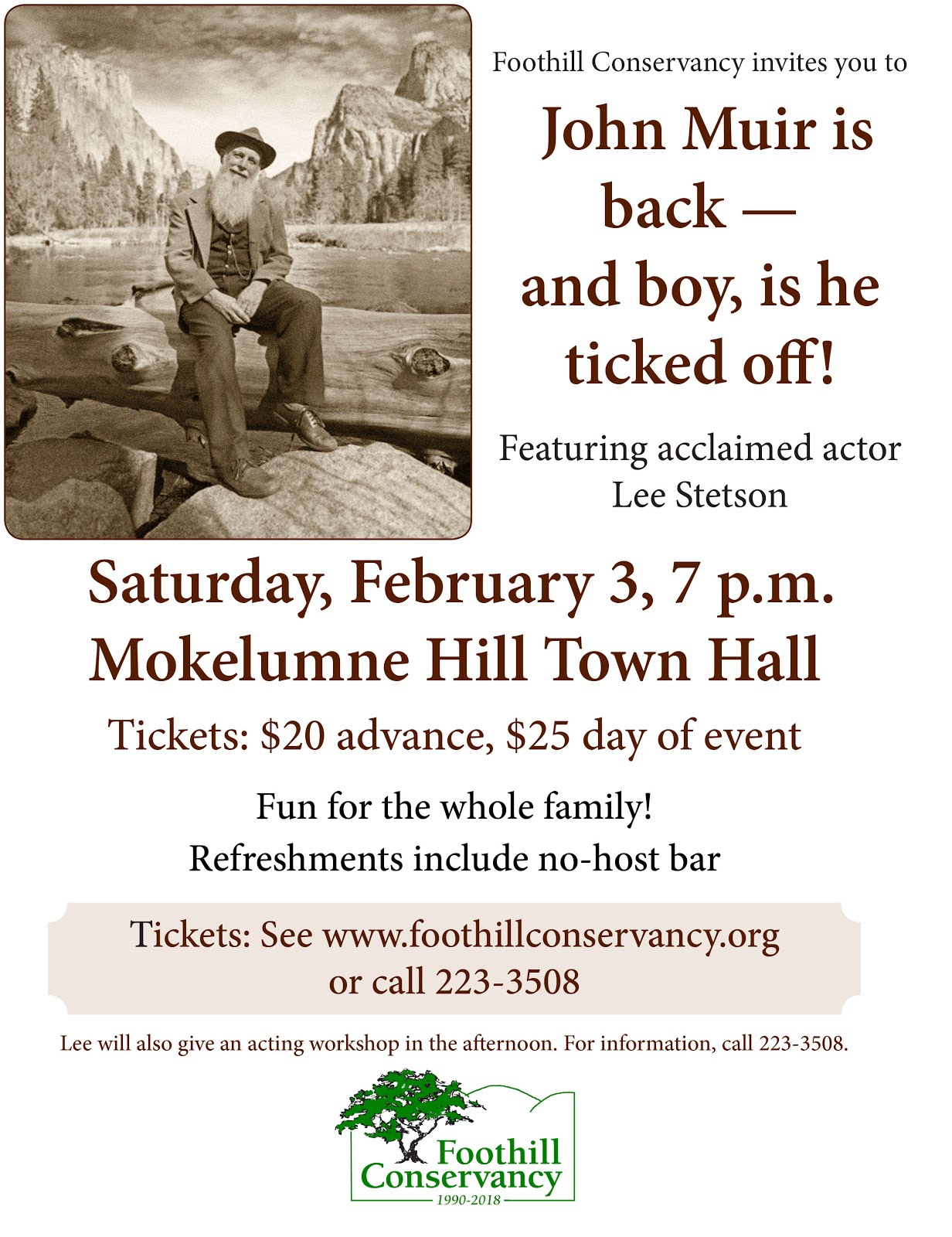 """John Muir is back, and man, is he ticked off!"" - Sat Feb 3"