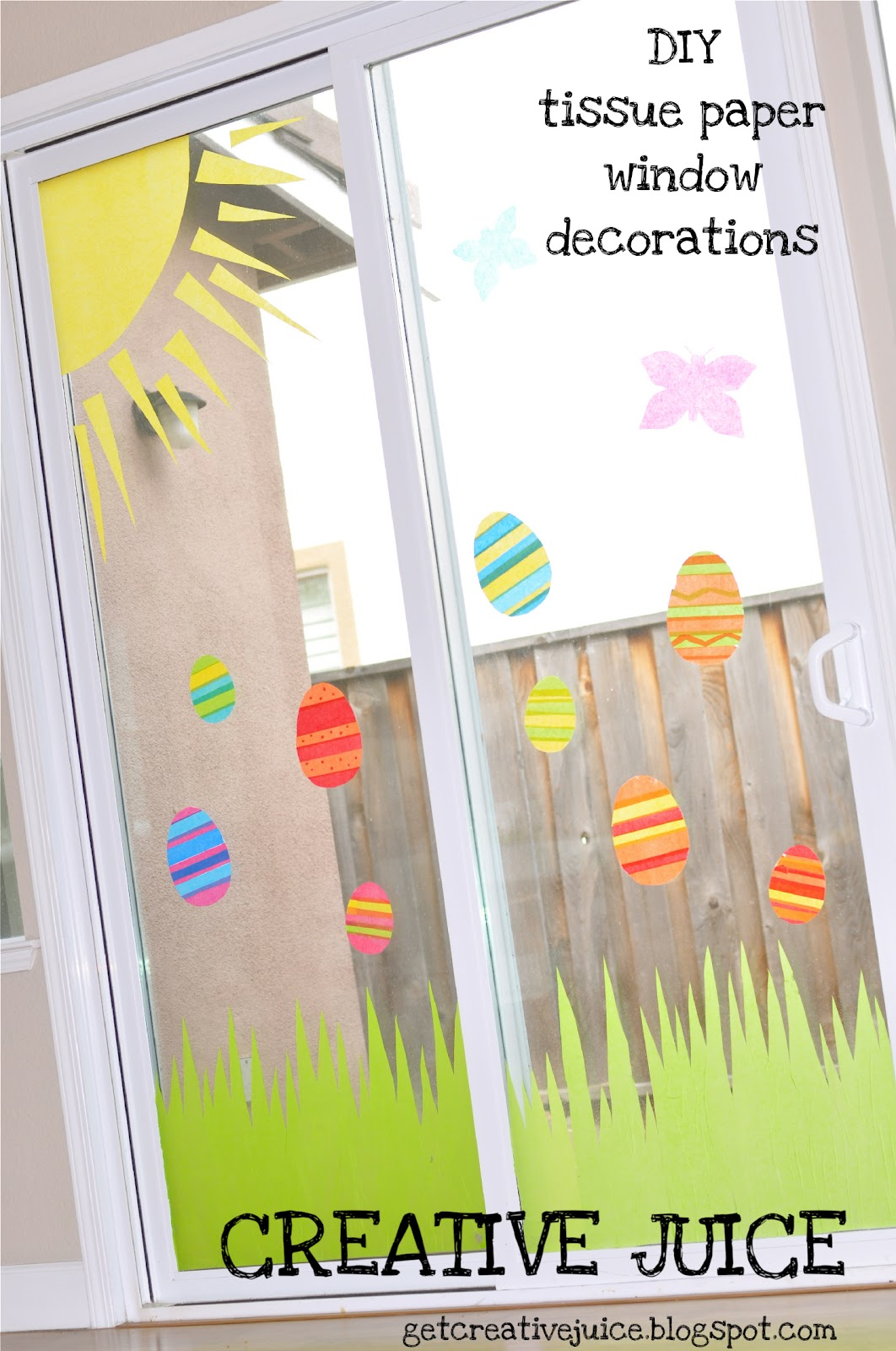 Creative Juice: {TUTORIAL} Easy Tissue Paper Window Decor