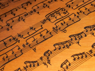 Notas musicales en letras