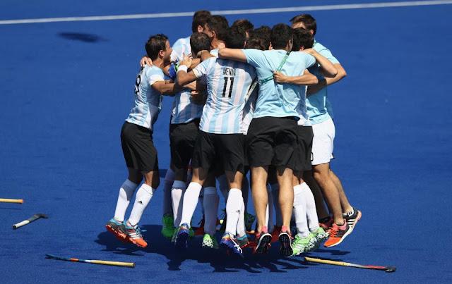 Argentina celebra su clasificación a semifinales | Juegos Olímpicos Río 2016