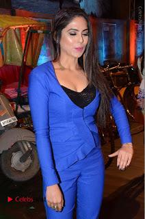 Actress Naina Ganguly Stills in Blue Dress at RGV Shiva to Vangaveeti Event  0021.JPG