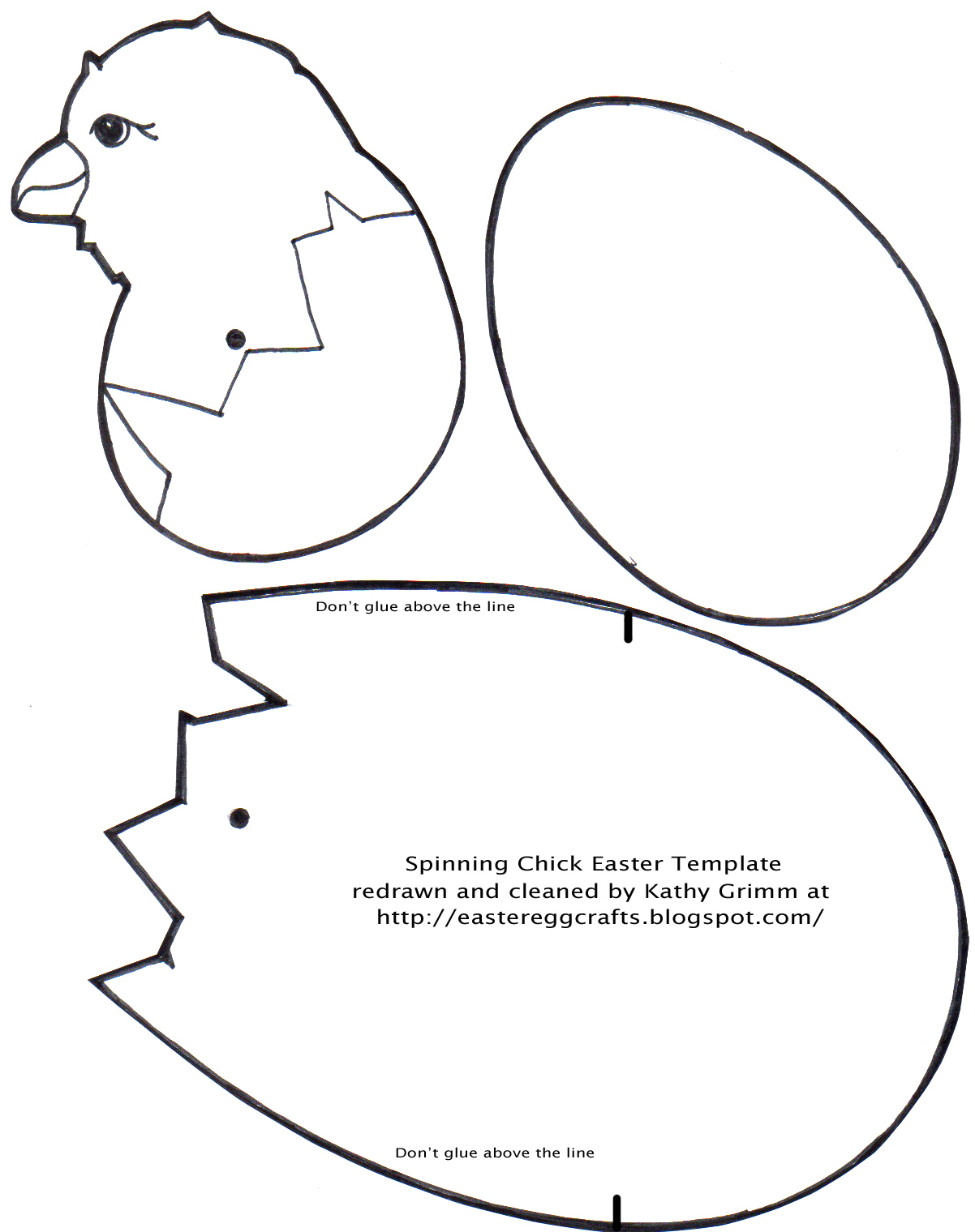 A hatching chick picture easter egg crafts for Easter chick templates free