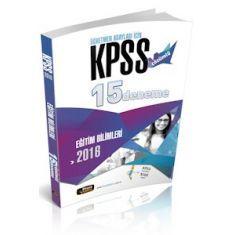 Beyaz Kalem KPSS Eğitim Bilimleri Çözümlü 15 Deneme (2016)