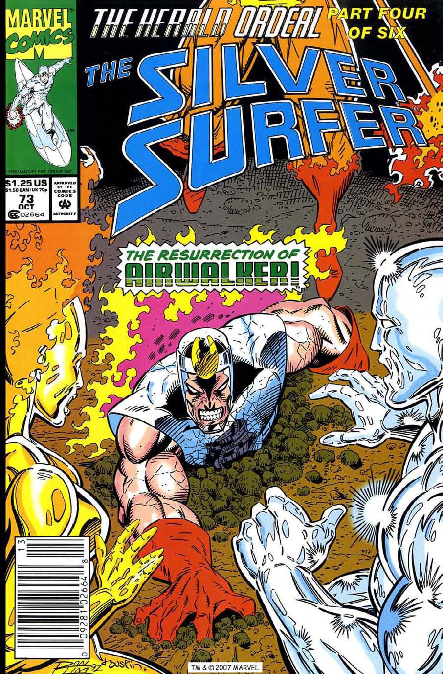 Read online Silver Surfer (1987) comic -  Issue #73 - 1