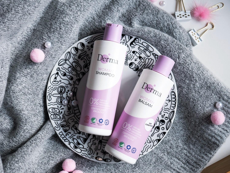 Zimowa pielęgnacja włosów Derma Eco Woman szampon, odżywka