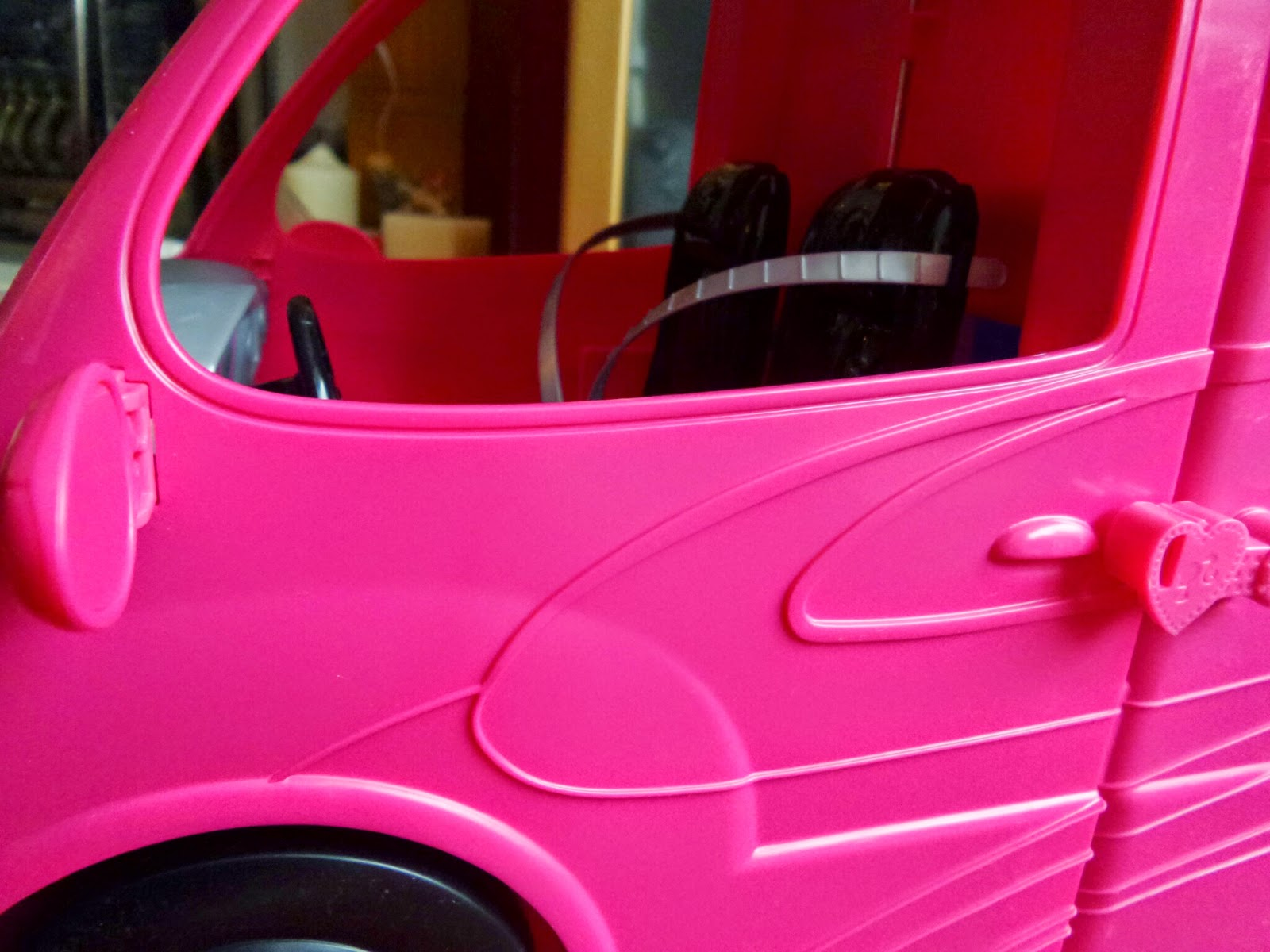 Barbie Glam Camper the front seat #Review