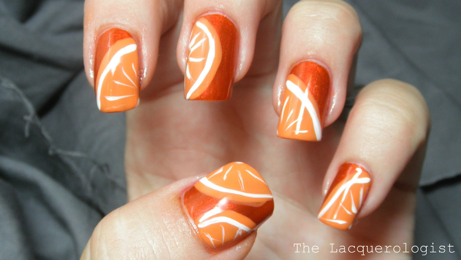 I think I will do a citrus mani soon with limes, lemons and grapefruits as  well! Do you like my literally orange orange nails? =)