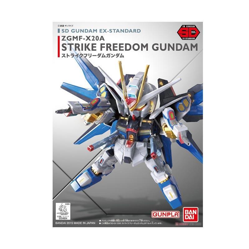 Bandai Gunpla-Gundam SD Ex-Standard 006 Strike Freedom Model Kit [04934 0472939]