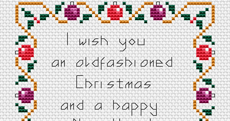 free cross stitch patterns  christmas border free cross