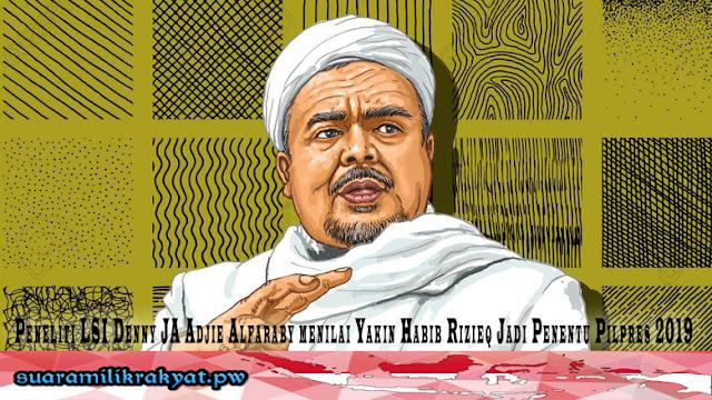 Peneliti LSI Denny JA Adjie Alfaraby menilai Yakin Habib Rizieq Jadi Penentu Pilpres 2019