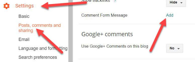click on setting then post comment and sharing and then add