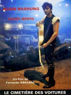 cartel en franceés de la película Cementerio de automóviles