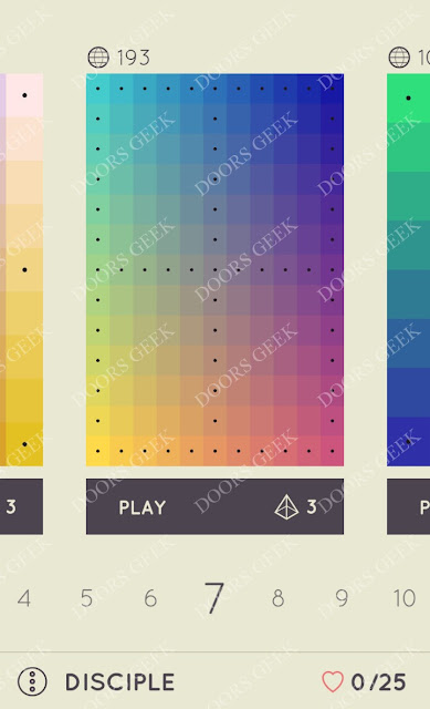 I Love Hue Disciple Level 7 Solution, Cheats, Walkthrough