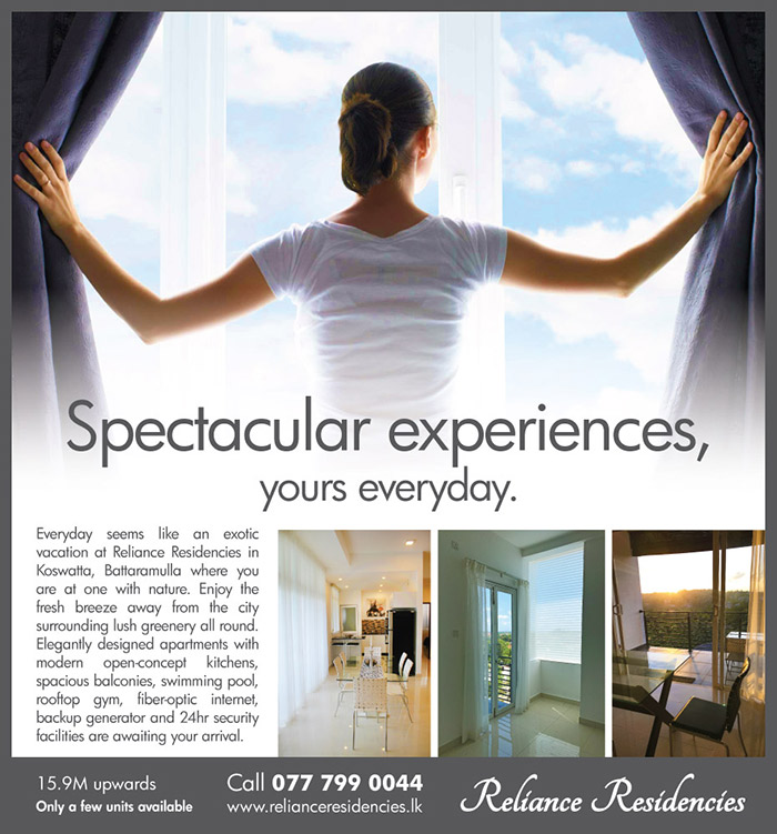 Reliance Residencies - Battaramulla | Spectacular experiences, yours everyday.
