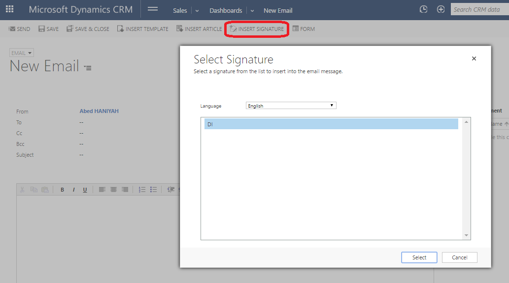 how to change signature in hotmail 2016