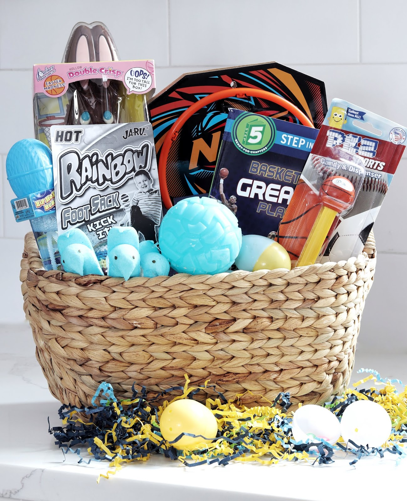 Easter Basket Ideas Christmas Tree Shops sports themed basket