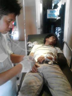Tersengat listrik, Syamsuddin dilarikan kerumah sakit