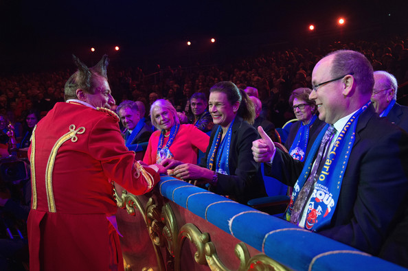 Princess Stephanie of Monaco and Prince Albert II of Monaco attend the opening ceremony of the 39th International Circus Festival of Monte-Carlo